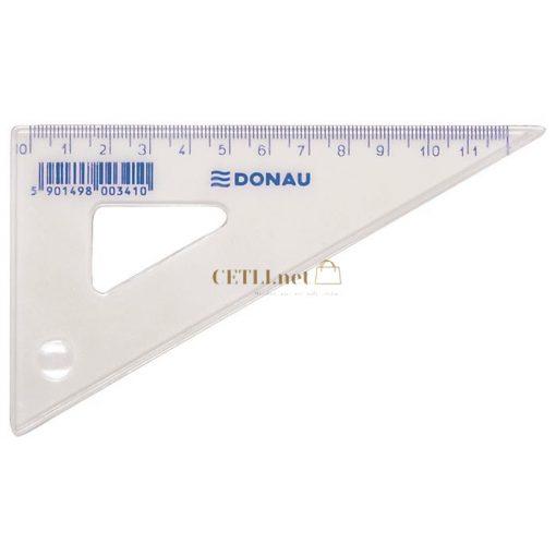 Háromszög vonalzó, műanyag, 60°, 12 cm, DONAU