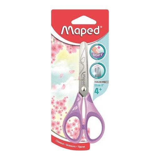 "Olló, iskolai, 13 cm, MAPED ""Essential Soft Pastel"", lila"