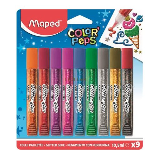 """Csillámos ragasztó, MAPED """"Color'Peps"""", 9 különböző szín"""
