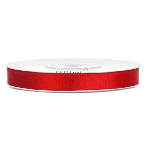 Szatén szalag, 6 mm, piros