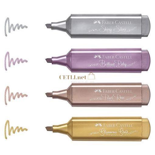 """Szövegkiemelő készlet, 1-5 mm, FABER-CASTELL """"TL 46"""", 4 különböző metál szín"""
