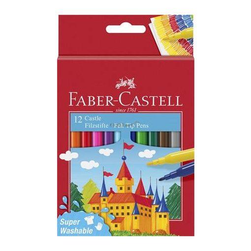 """Filctoll készlet, FABER-CASTELL, 12 különböző szín""""Castle"""""""