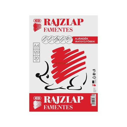 "Rajzlap, famentes, A4, 120 g/m2, ICO ""Süni"""