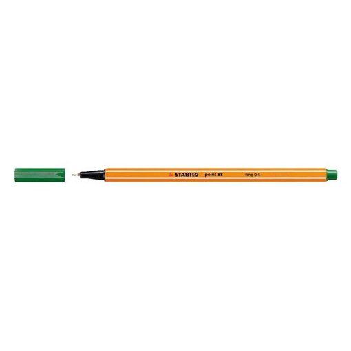 """Tűfilc, 0,4 mm, STABILO """"Point 88"""", zöld"""