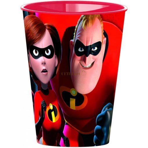 A hihetetlen család pohár, műanyag 260 ml